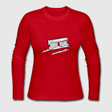 GRAY AND WHITE COKE AND RAZOR BLADE - Women's Long Sleeve Jersey T-Shirt