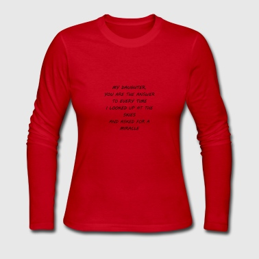 my daughter - Women's Long Sleeve Jersey T-Shirt