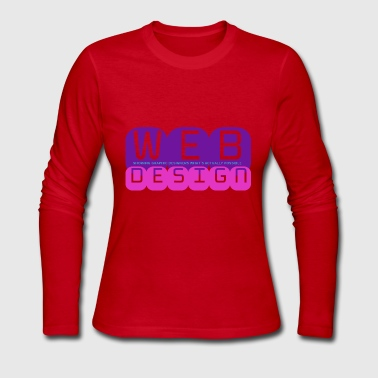 Web Design vs Graphic Design (Purple + Pink) - Women's Long Sleeve Jersey T-Shirt