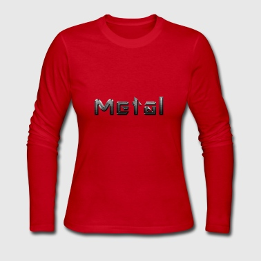 metal - Women's Long Sleeve Jersey T-Shirt