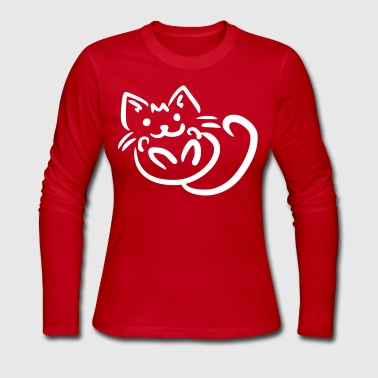 Cuddling Kitten - Women's Long Sleeve Jersey T-Shirt