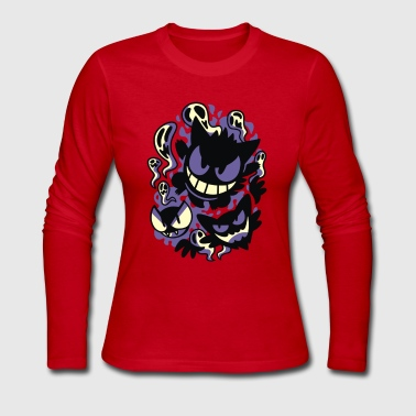 Ghastly Haunting Ghouls - Women's Long Sleeve Jersey T-Shirt
