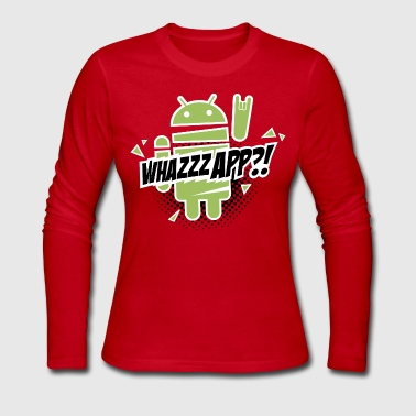 I heart funny geek Paranoid Android t-shirts - Women's Long Sleeve Jersey T-Shirt