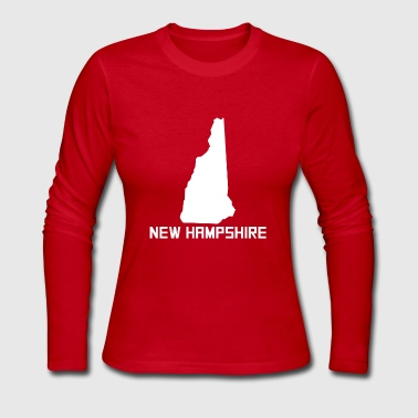 New Hampshire State Silhouette - Women's Long Sleeve Jersey T-Shirt