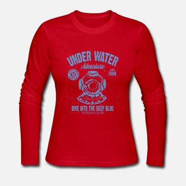 Under Water UNDER WATER ADVENTURE - Women's Long Sleeve Jersey T-Shirt