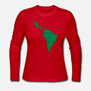 South America Latin America - South America - Women's Long Sleeve Jersey T-Shirt