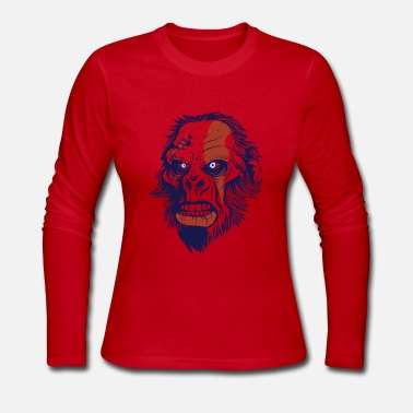Primitive Man T-Shirt primitive neanderthal head vector image - Women's Long Sleeve Jersey T-Shirt