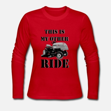 Lawn Mower This Is My Other Ride - Women's Long Sleeve Jersey T-Shirt
