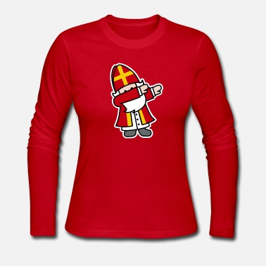 Holland Sinterklaas Saint / Nicholas Dab Dabbing - Women's Long Sleeve Jersey T-Shirt