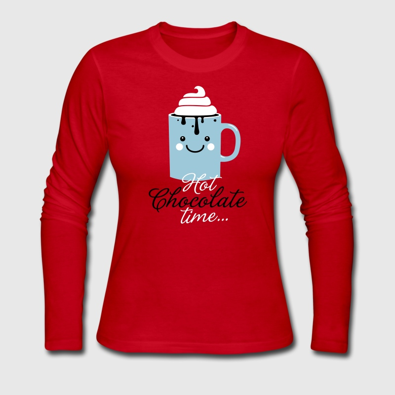 i heart hot chocolate winter holiday food t-shirts - Women's Long Sleeve Jersey T-Shirt