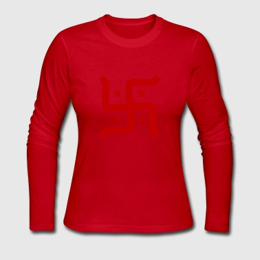 Hindu Swastika - Women's Long Sleeve Jersey T-Shirt