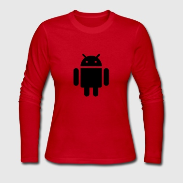 Android Andy - Women's Long Sleeve Jersey T-Shirt