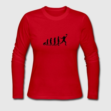 Football Evolution Wide Receiver - Women's Long Sleeve Jersey T-Shirt