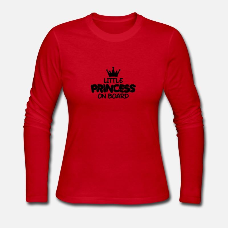 Baby Long sleeve shirts - little princess on board - Women's Jersey Longsleeve Shirt red