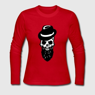 Death head skull cap hat beard beard - Women's Long Sleeve Jersey T-Shirt