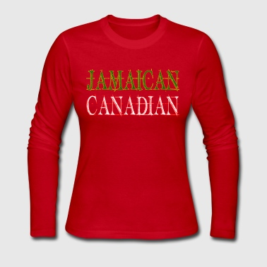 Jamaican Canadian - Women's Long Sleeve Jersey T-Shirt