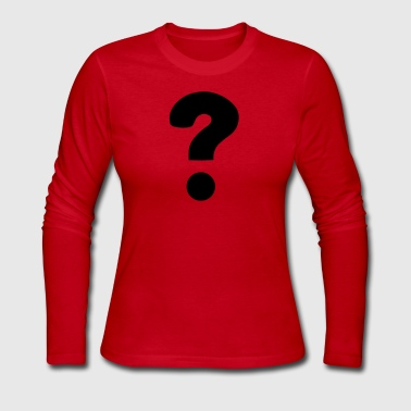 Question Mark Question Mark / ? - Women's Long Sleeve Jersey T-Shirt