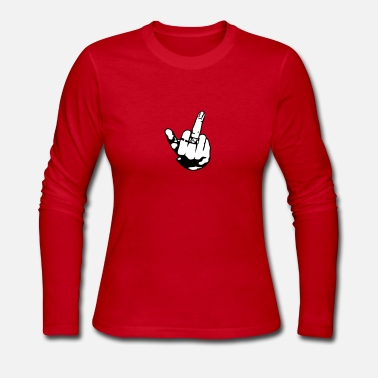 Middle Finger Middle finger - Women's Long Sleeve Jersey T-Shirt