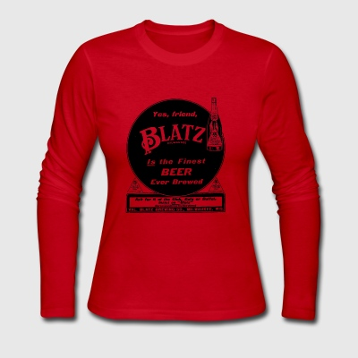 Vintage Blatz Beer Advertising 1911 - Women's Long Sleeve Jersey T-Shirt