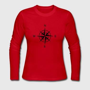Nautical Compass - Women's Long Sleeve Jersey T-Shirt