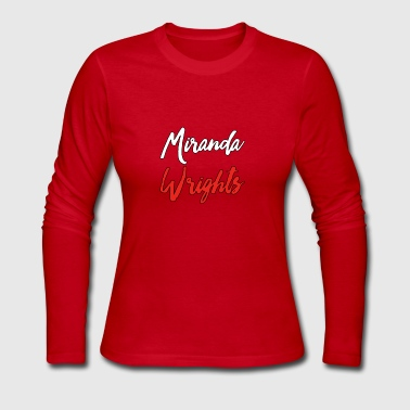 Miranda Wrights Logo - Women's Long Sleeve Jersey T-Shirt