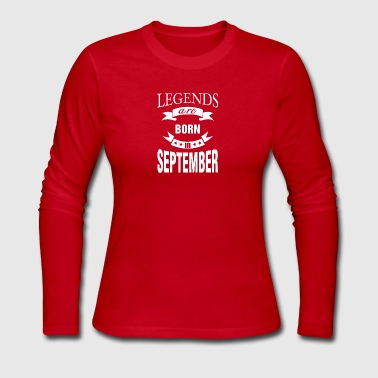 Legends are born in September - Women's Long Sleeve Jersey T-Shirt