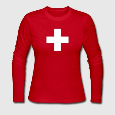 Switzerland - Swiss Cross - Women's Long Sleeve Jersey T-Shirt