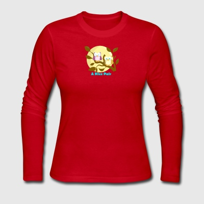 A Nice Pair Owl - Women's Long Sleeve Jersey T-Shirt