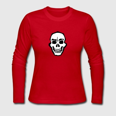 death head skull 102 - Women's Long Sleeve Jersey T-Shirt