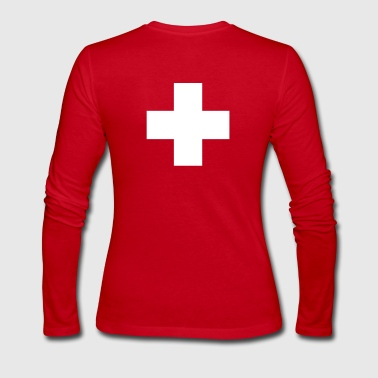 cross swiss red - Women's Long Sleeve Jersey T-Shirt