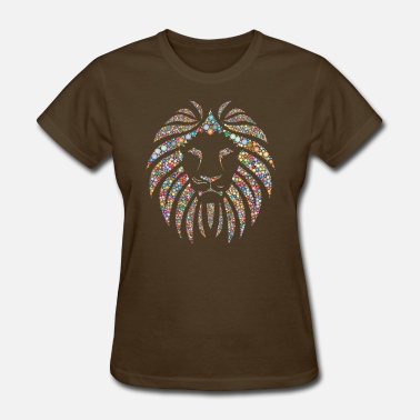 King-of-the-dot Colorful Lion face - Women's T-Shirt