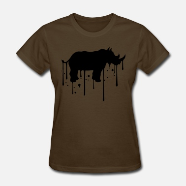 Graffiti Drip graffiti drip paint stamp outline silhouette pachy - Women's T-Shirt
