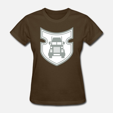 Lorries front front truck truck lorry driver driving car t - Women's T-Shirt