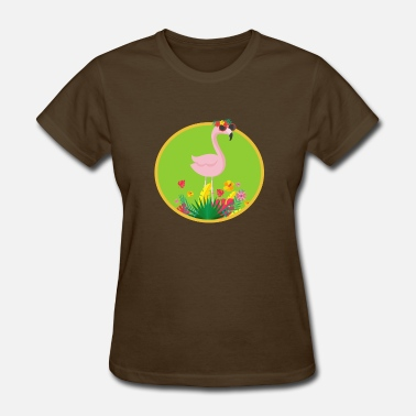 Flamingo Kids Funny Flamingo Summer Flowers Funny Animals Gift Kids - Women's T-Shirt