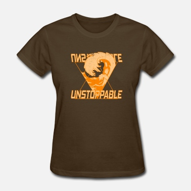 Overcome Obstacles Unstoppable Strong Willfully Overcome Wave - Women's T-Shirt