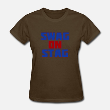 Christmas Stag Swag On Stag - Women's T-Shirt