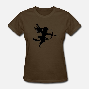 Heart Shape Draw angel-draws-shape-valentines-day-amour-love - Women's T-Shirt