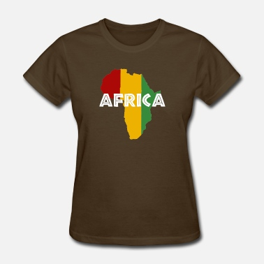 Reggae Mama Africa Africa Rasta on black - Women's T-Shirt
