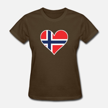 Norwegian Heart Norwegian Flag Heart - Women's T-Shirt