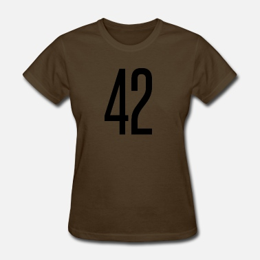 Number 42 Tall number 42 - Women's T-Shirt