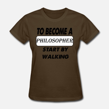 Stencil Philosophy to become a philosopher - Women's T-Shirt