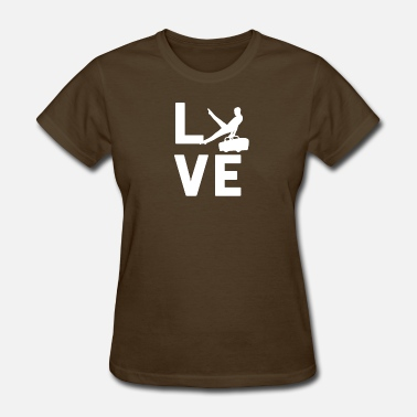 Gymnastics Graphic Gymnast GYMNASTICS LOVE - Graphic Shirt - Women's T-Shirt