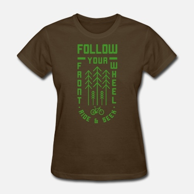 Go Green Logo Follow Ride And Seek Logo in Green - Women's T-Shirt