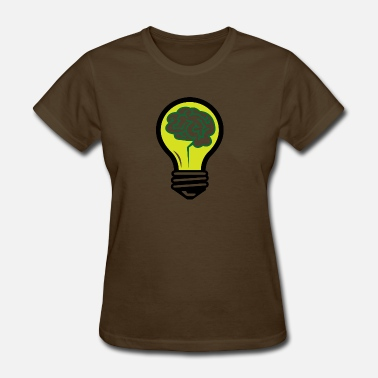 Brainchild An Idea Popped Up! Light Bulb With A Brain! - Women's T-Shirt