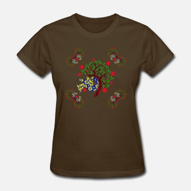 Tribal Fusion Ethnic Peacock Pattern - Women's T-Shirt