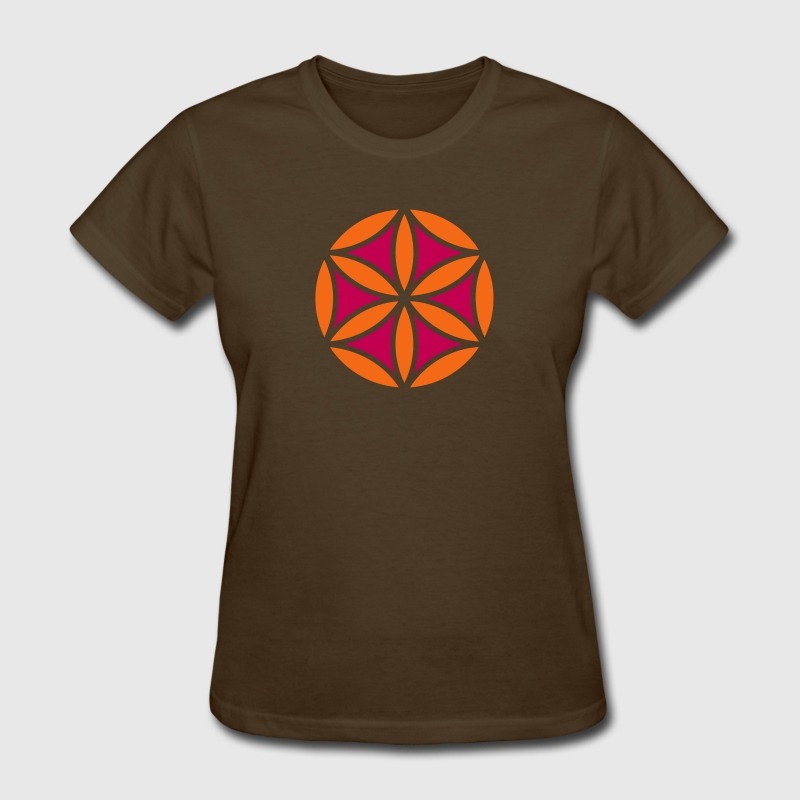 Flower of Aphrodite, 2c, Symbol of  love, beauty and transformation, Power Symbol, Talisman - Women's T-Shirt