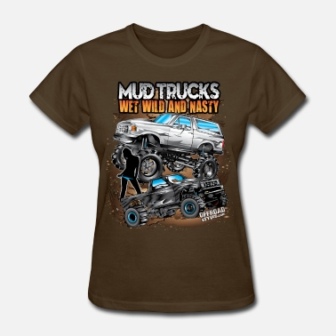 Mud Bogging Mega Mud Truck Bunch - Women's T-Shirt