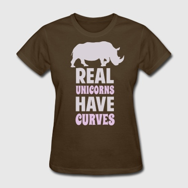 Real Unicorns Have Curves - Women's T-Shirt