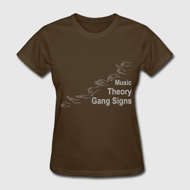 Music Theory Gang Signs (grey) - Women's T-Shirt