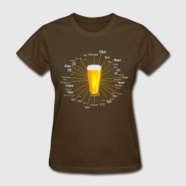 Beer in 45 languages - Women's T-Shirt